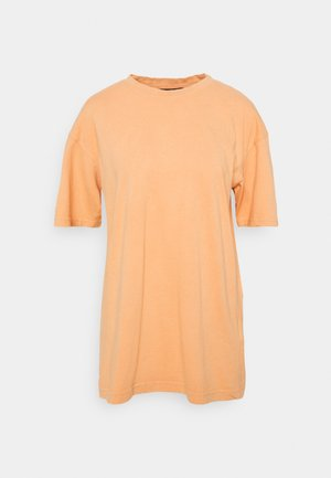 WASHED OVERSIZE TEE - T-shirt basic - orange
