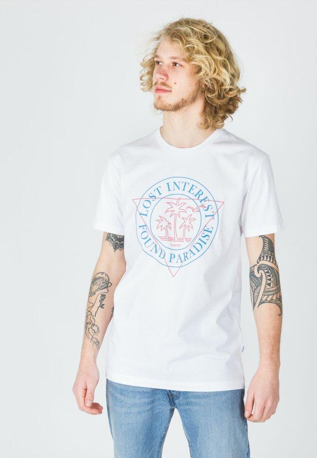 LOST INTEREST - Print T-shirt - white