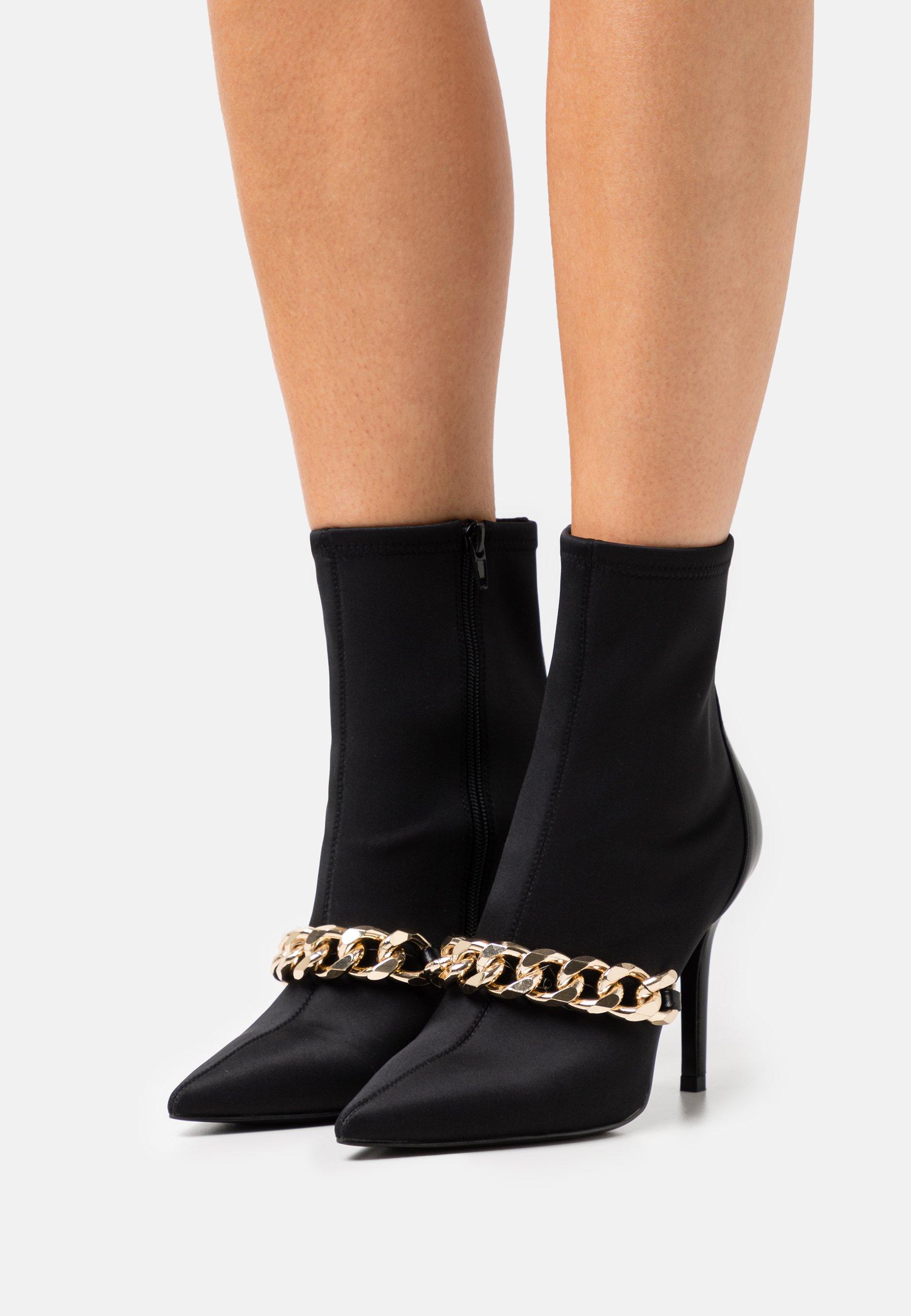 Women TRONCHETTO TACCO ALTO DETTAGLIO CATENA - Classic ankle boots