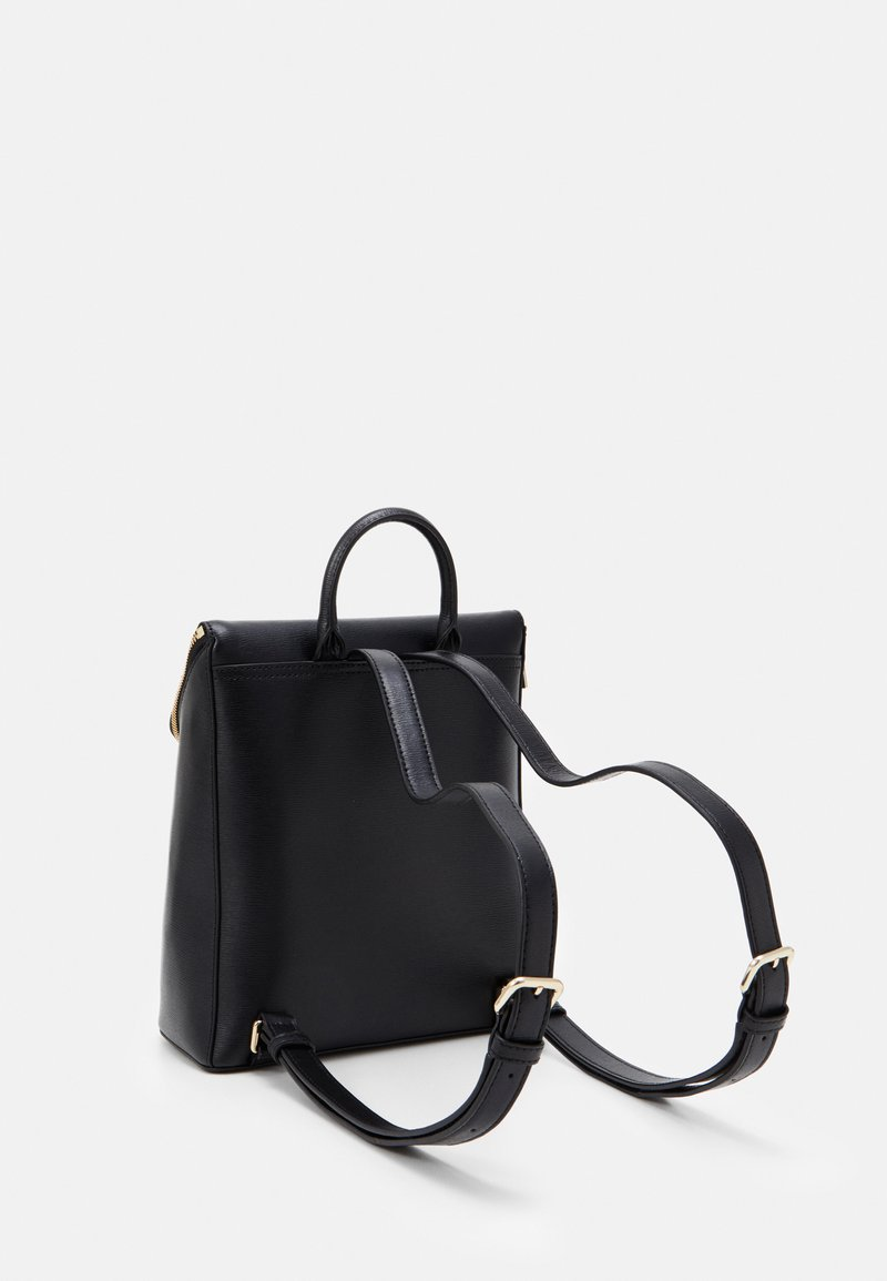 DKNY - BRYANT PARK TOTE LOGO WITH TRIM - Plecak - black/gold