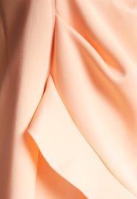 Miss Selfridge Petite - ONE SHOULDER SCUBA DRESS - Cocktail dress / Party dress - peach - 2