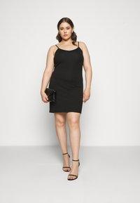 Zizzi - STRAP LONG - Pouzdrové šaty - black - 1