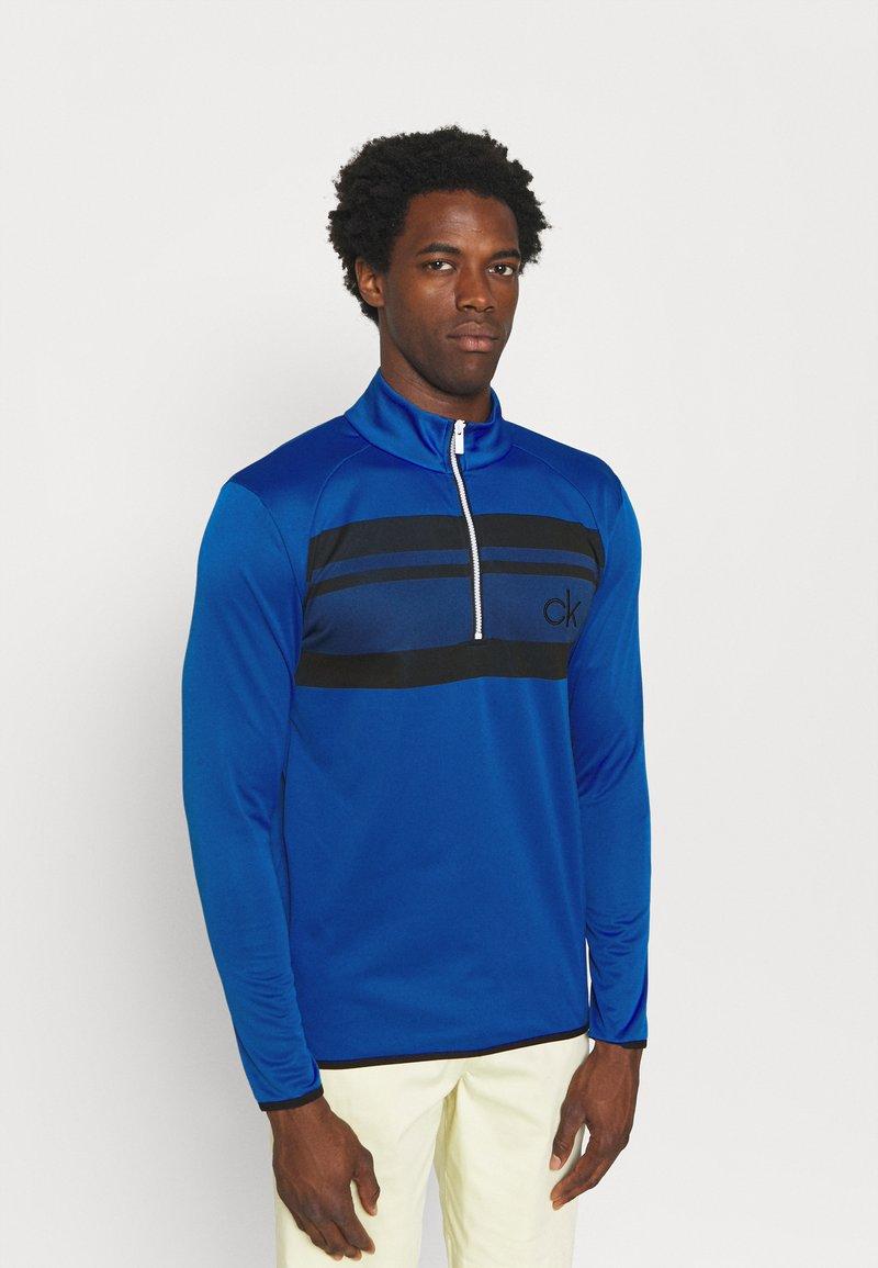 Calvin Klein Golf - TAYLOR CHEST HALF ZIP - Sweatshirt - nautical blue
