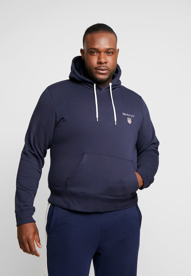 GANT - MEDIUM SHIELD HOODIE - Hoodie - evening blue