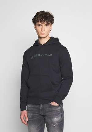 LOAQ HOODED LONG SLEEVE - Sweat à capuche - black