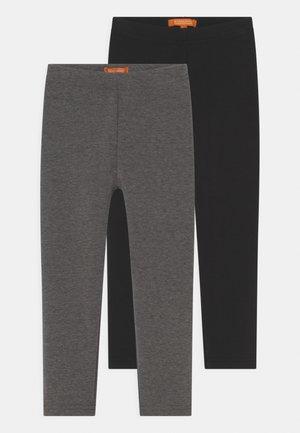 THERMO KID 2 PACK - Leggings - Trousers - black/stone melange