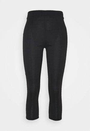 PONTE SLIM TROUSER - Trousers - black