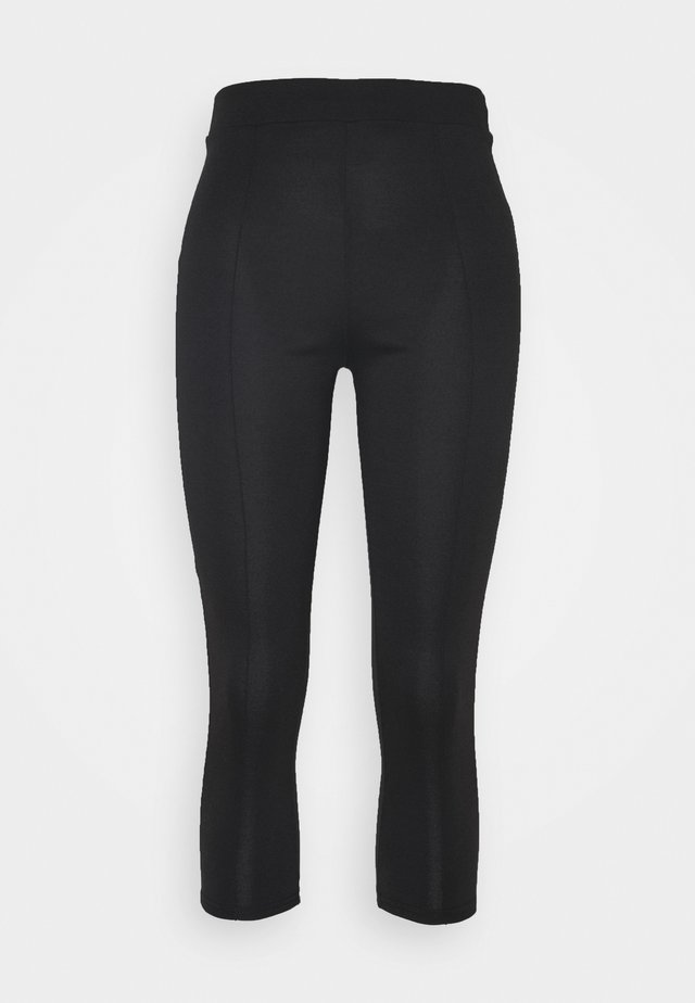 PONTE SLIM TROUSER - Bukse - black