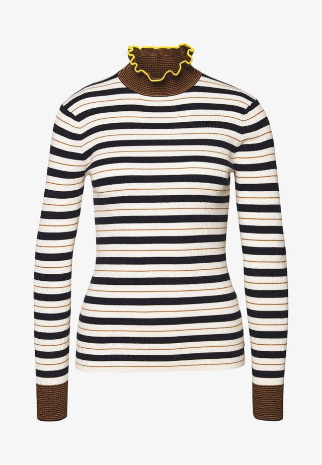 TURTLENECK IN STRIPED - Jumper - yellow