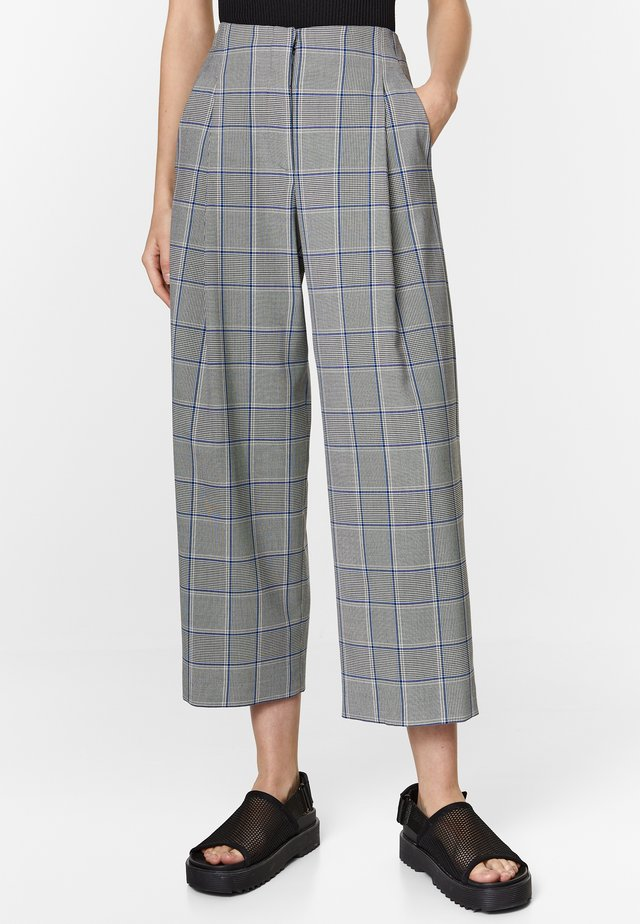 BIMBA Y LOLA STRAIGHT PRINCE OF WALES TROUSERS - Trousers - black