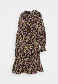 MAMALICIOUS - MLEMRA WOVEN DRESS  - Day dress - black/snow white / fall leaf /dewberry - 4