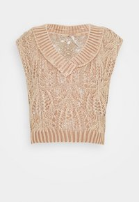 Free People - POINTELLE VEST - Sweter - soft earth - 4