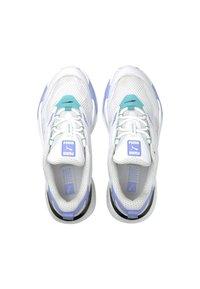 Puma - RS-FAST POP WN'S - Trainers - puma white-elektro pool-elektro purple - 4