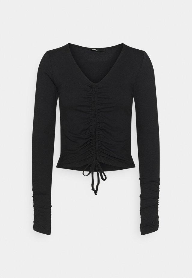 ONLWINDY DETAIL - Langærmede T-shirts - black