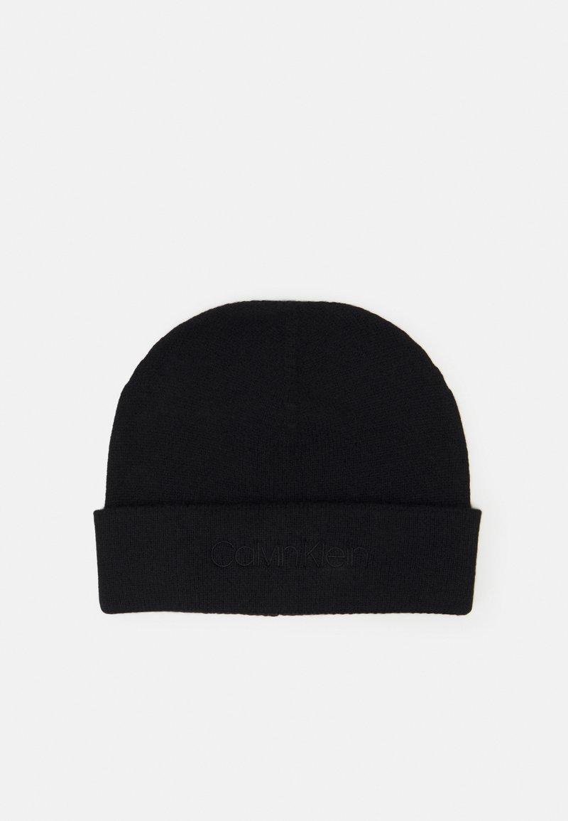 Calvin Klein - NATURAL BEANIE UNISEX - Pipo - black