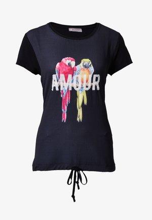 AMOUR - Print T-shirt - schwarz
