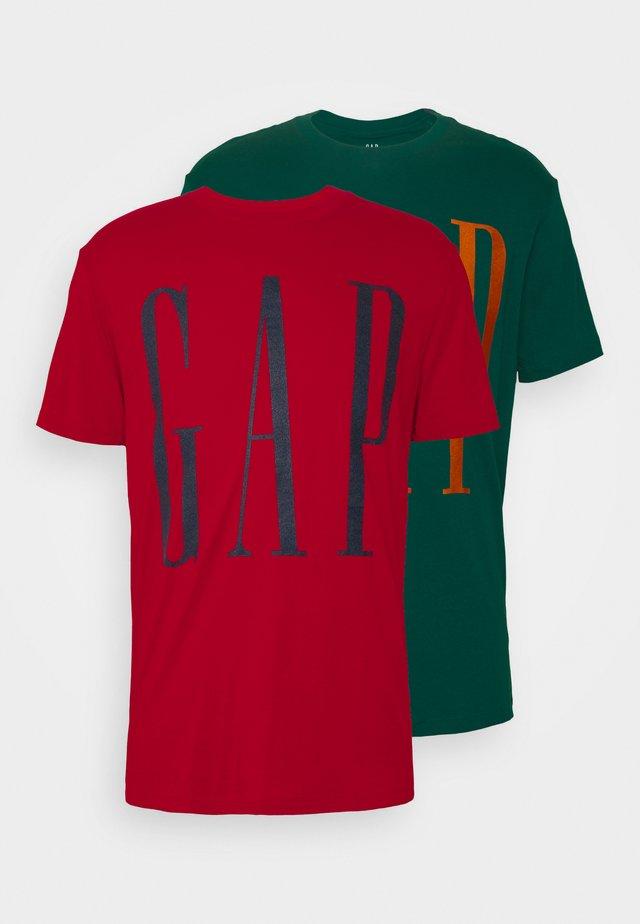 LOGO 2 PACK - Camiseta estampada - savvy teal