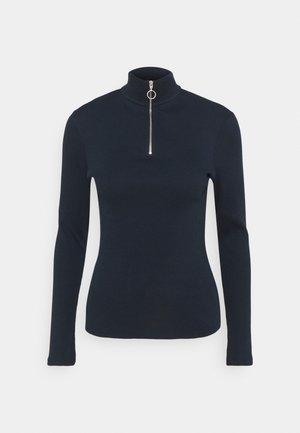 LONGSLEEVE TURTLENECK WITH ZIPPER SPECIAL COLLAR - Long sleeved top - scandinavian blue
