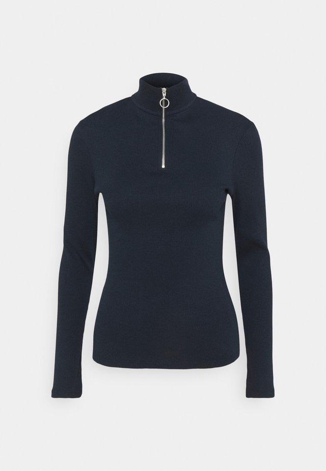 LONGSLEEVE TURTLENECK WITH ZIPPER SPECIAL COLLAR - Långärmad tröja - scandinavian blue
