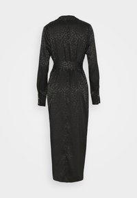 Never Fully Dressed - LEOPARD LONGSLEEVE WRAP DRESS - Cocktailjurk - black - 1