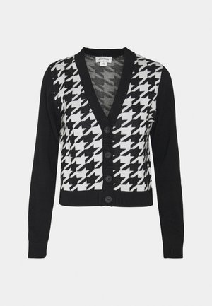 Cardigan - black and white dog tooth