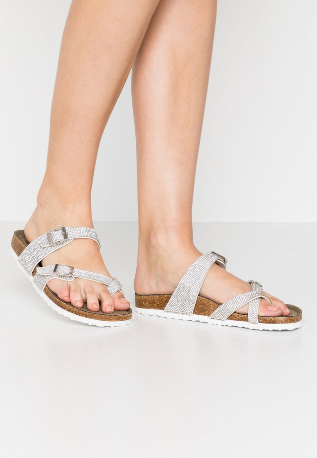 BRYCEE - T-bar sandals - silver/multicolor