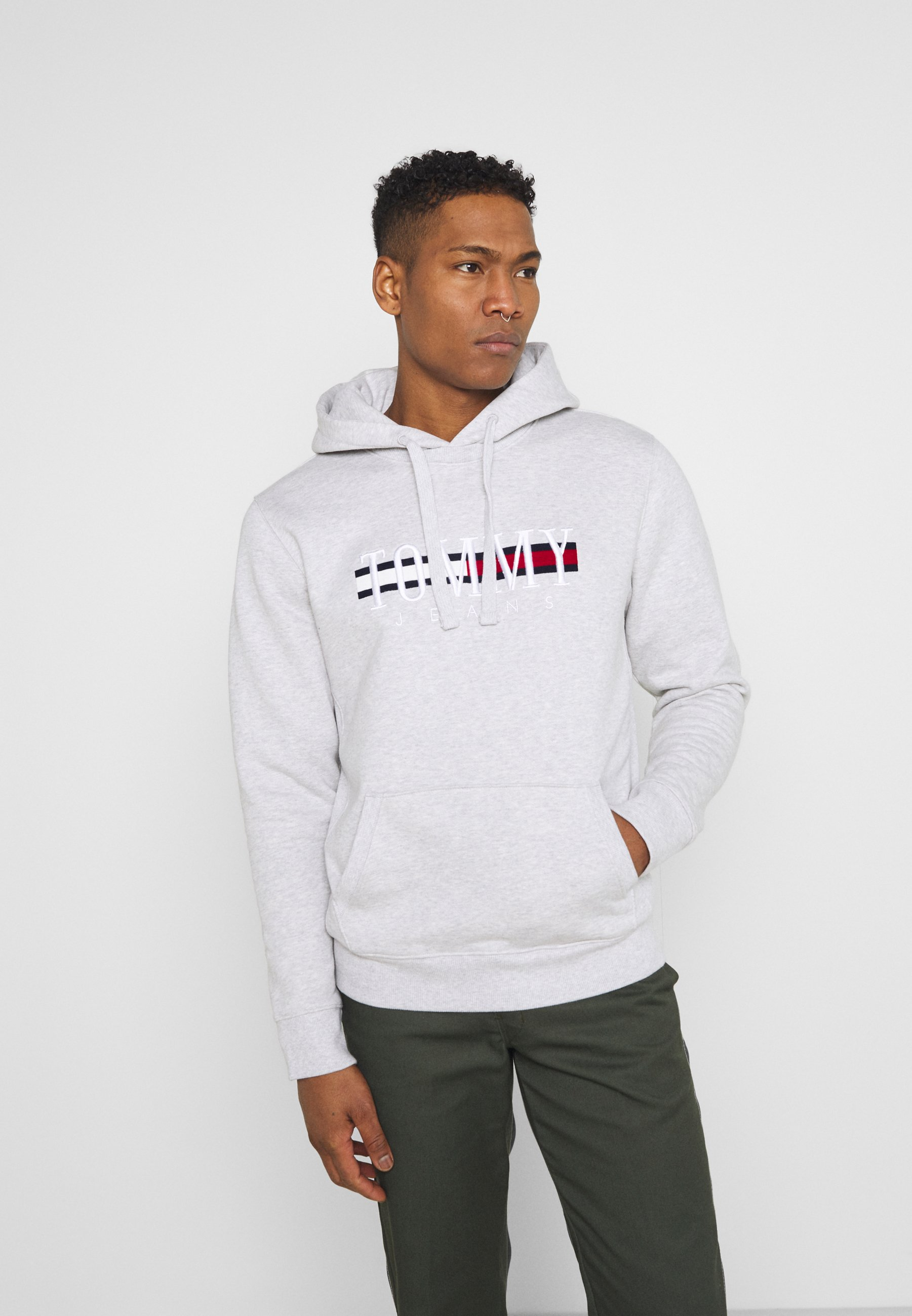 Herren TIMELESS HOODIE UNISEX - Sweatshirt - silver grey