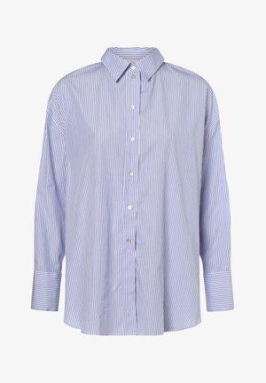 Button-down blouse - blau weiß