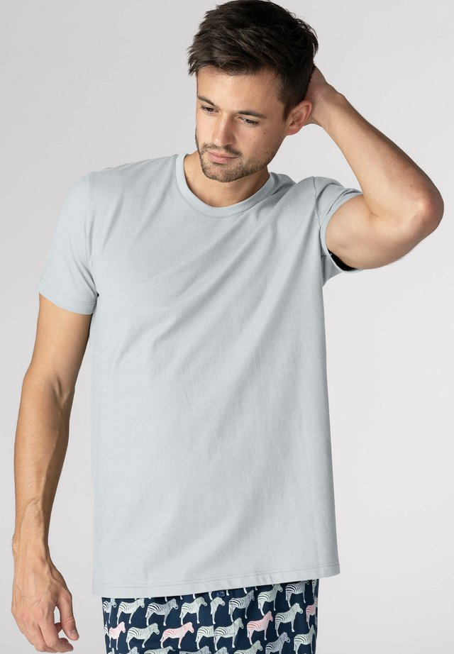 Pyjama top - light grey melange