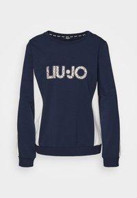 Liu Jo Jeans - FELPA CHIUSA - Sweatshirt - blu navy - 4