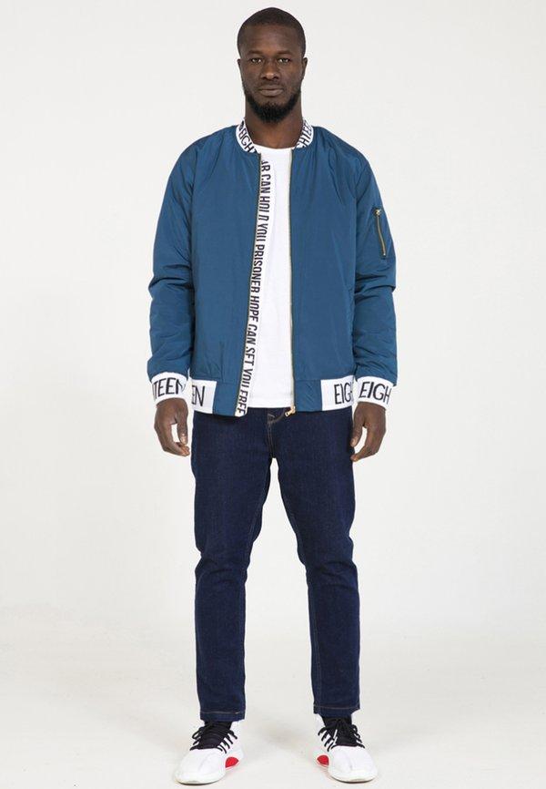 PLUS EIGHTEEN Kurtka Bomber - blue/niebieski Odzież Męska RMCX