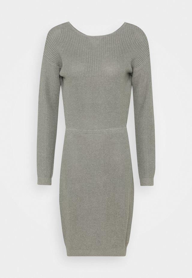 Jumper dress - mid grey melange