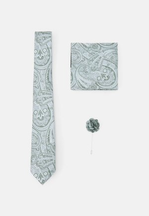 TIE HANKIE AND PIN SET - Tie - grey