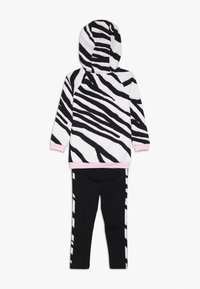 adidas Originals - HOODIE SET - Träningsset - black/white/clear pink - 1