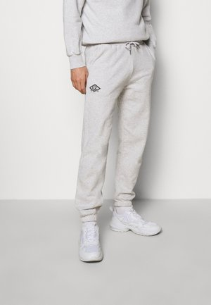 PANTS - Tracksuit bottoms - grey melange/black