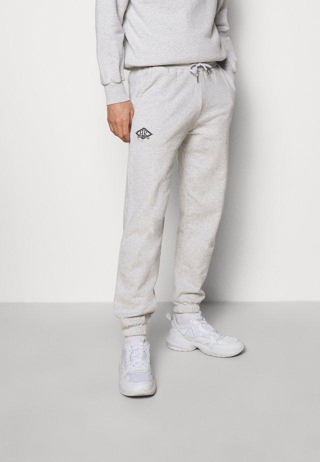 PANTS - Pantaloni sportivi - grey melange/black