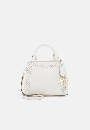 SATCHEL PERF SAFFIANO - Handbag - white/gold-coloured