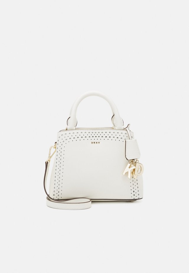 SATCHEL PERF SAFFIANO - Kabelka - white/gold-coloured