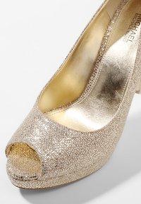 MICHAEL Michael Kors - ERIKA PLATFORM - Peeptoe heels - silver/sand - 2