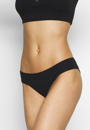 BANDED PIECED - Bikini bottoms - true black