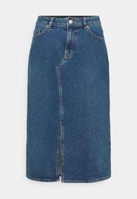 Carin Wester - SKIRT HOUSTON - Denimová sukně - denim blue - 4
