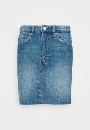 VINTAGE SKIRT - Denim skirt - mid blue