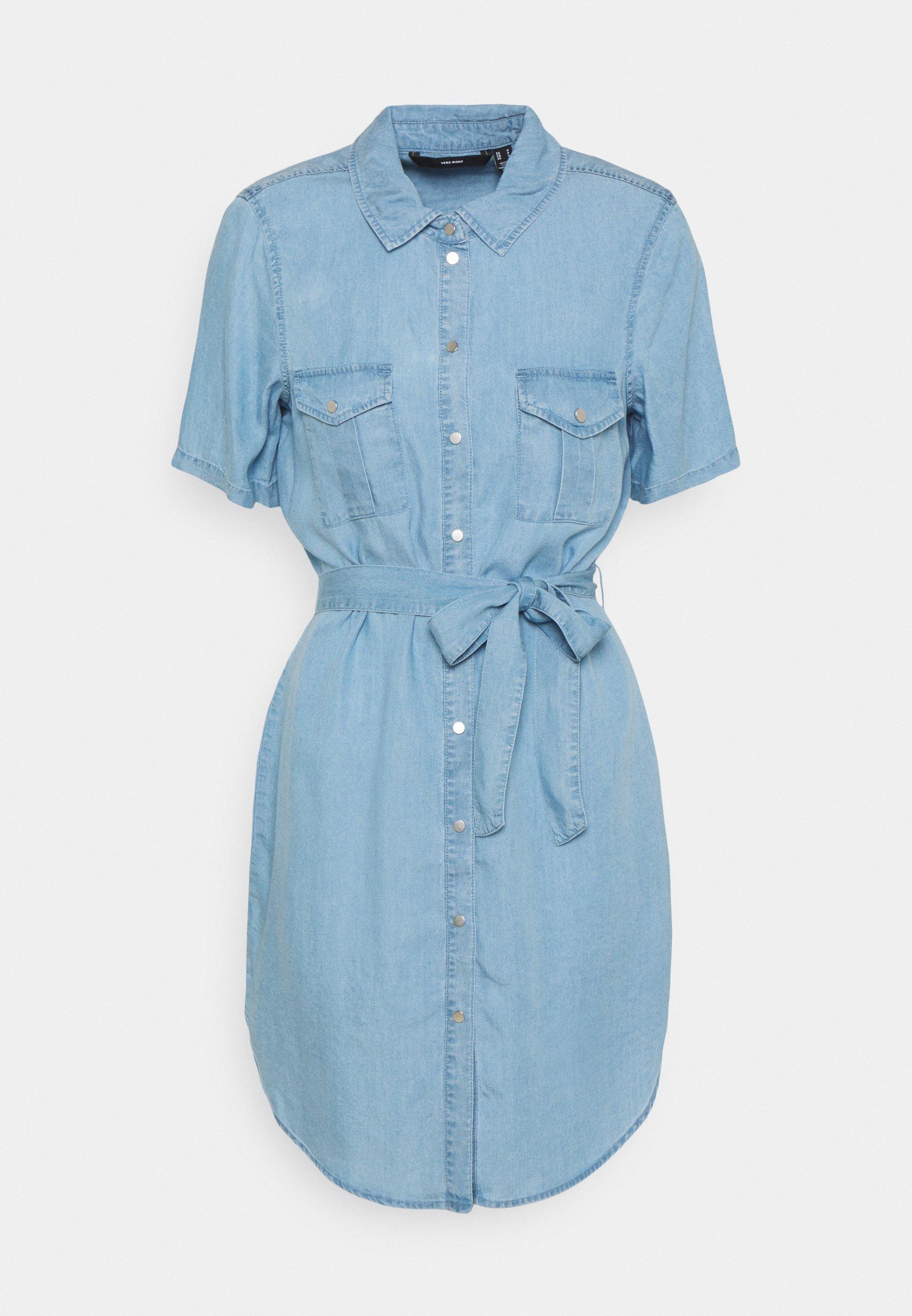 Damer VMSILJA SHORT SHIRT DRESS - Jeanskjole / cowboykjoler