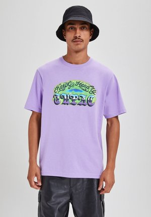 T-shirt med print - purple