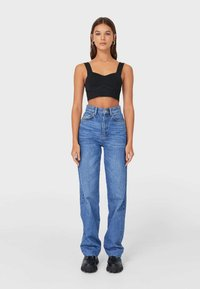 Stradivarius - Jeansy Straight Leg - blue denim