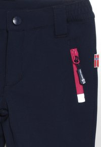 TrollKids - KIDS FJELL PANT - Outdoor trousers - navy/magenta - 4