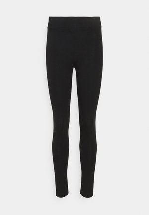 Leggings - Trousers - black dark