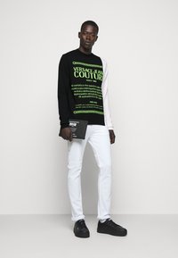 Versace Jeans Couture - Jumper - black/neon green/off-white - 1