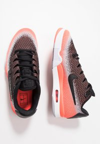 Nike Performance - TECH CHALLENGE VAPOR - Clay court tennis shoes - black/white/hot lava/wolf grey - 1