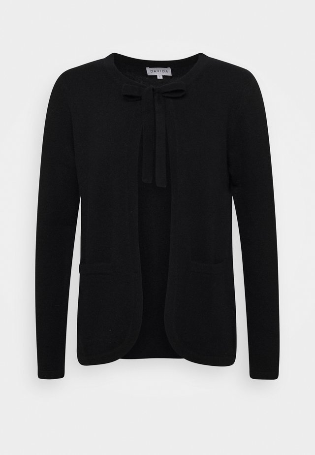 TIE NECK - Cardigan - black